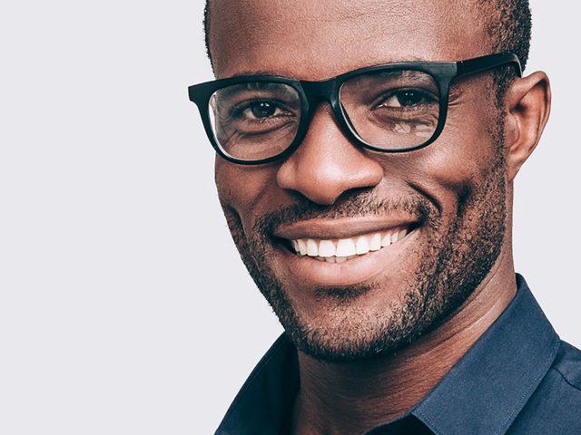 African American Man Wearing Black Glasses