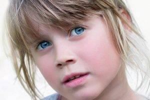 Blue Eyes Shy Girl