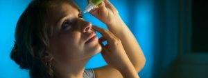 Woman Putting in Eye Drops 1280×480