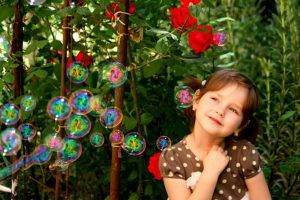 Young Girl Enjoying Bubbles | Optometrist at Centreville Eye Care Center in Centreville, VA