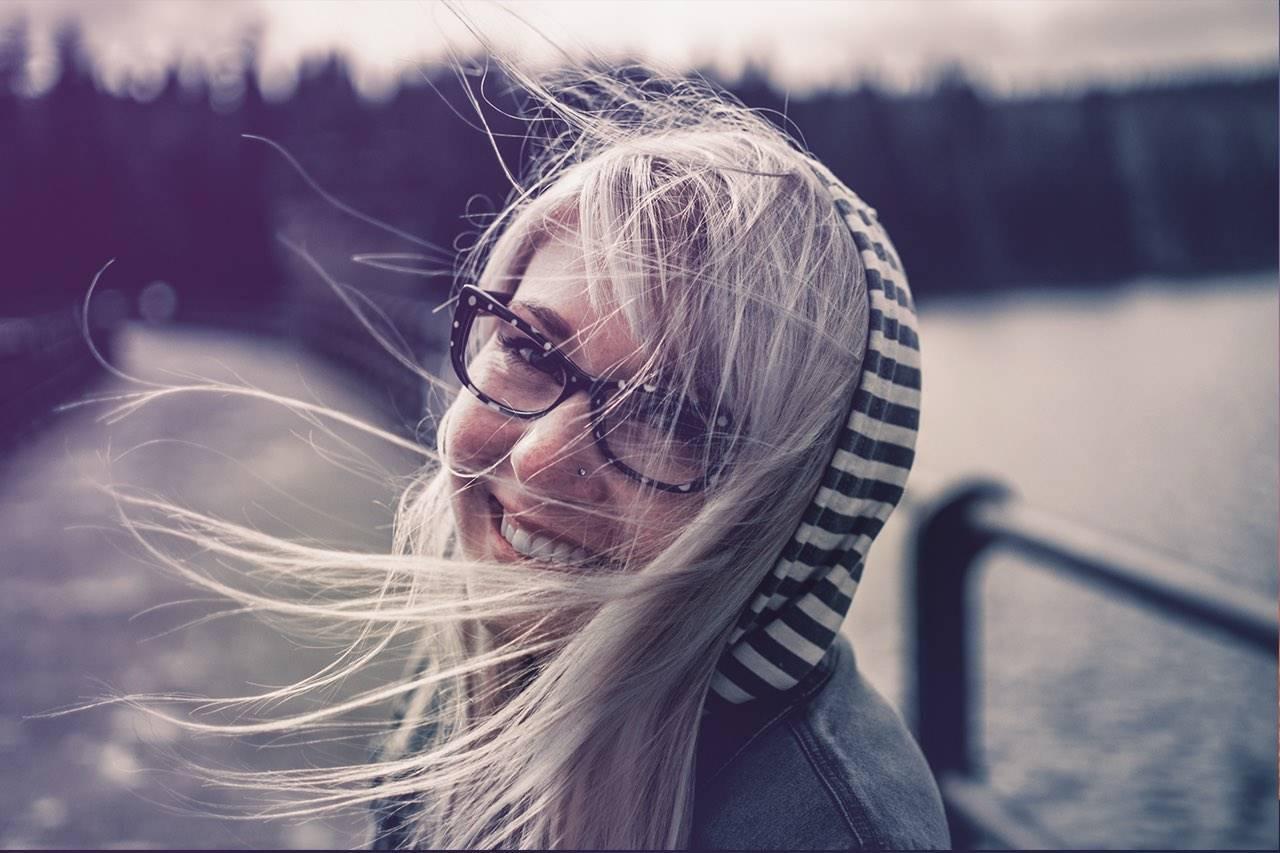 a woman long hair