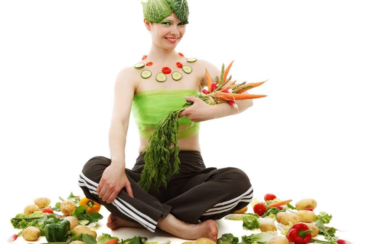 vegetable covered girl - order vitamins here