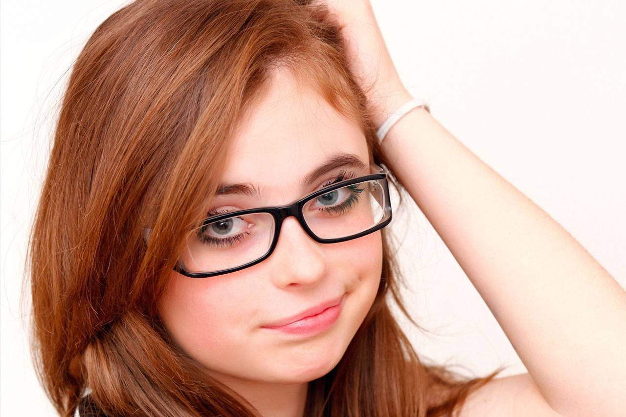 glasses american teen frown