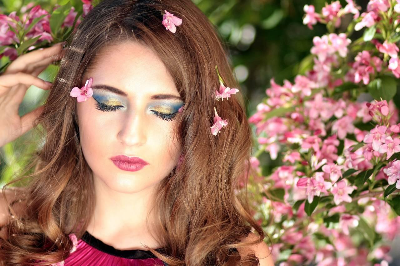 spring-woman-flowers-eyes-closed