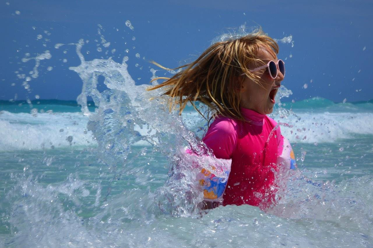 sunglasses child water fun