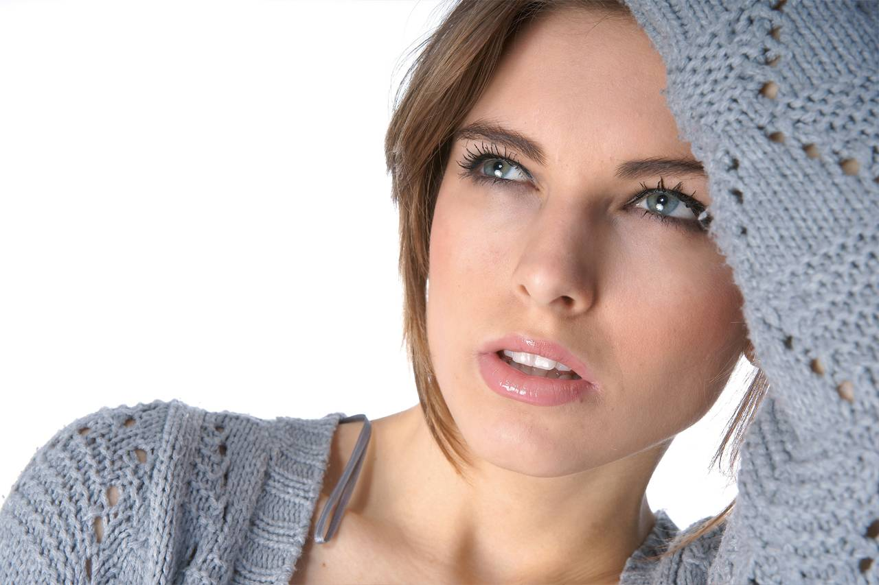 Woman Tired Blue Eyes 1280x853