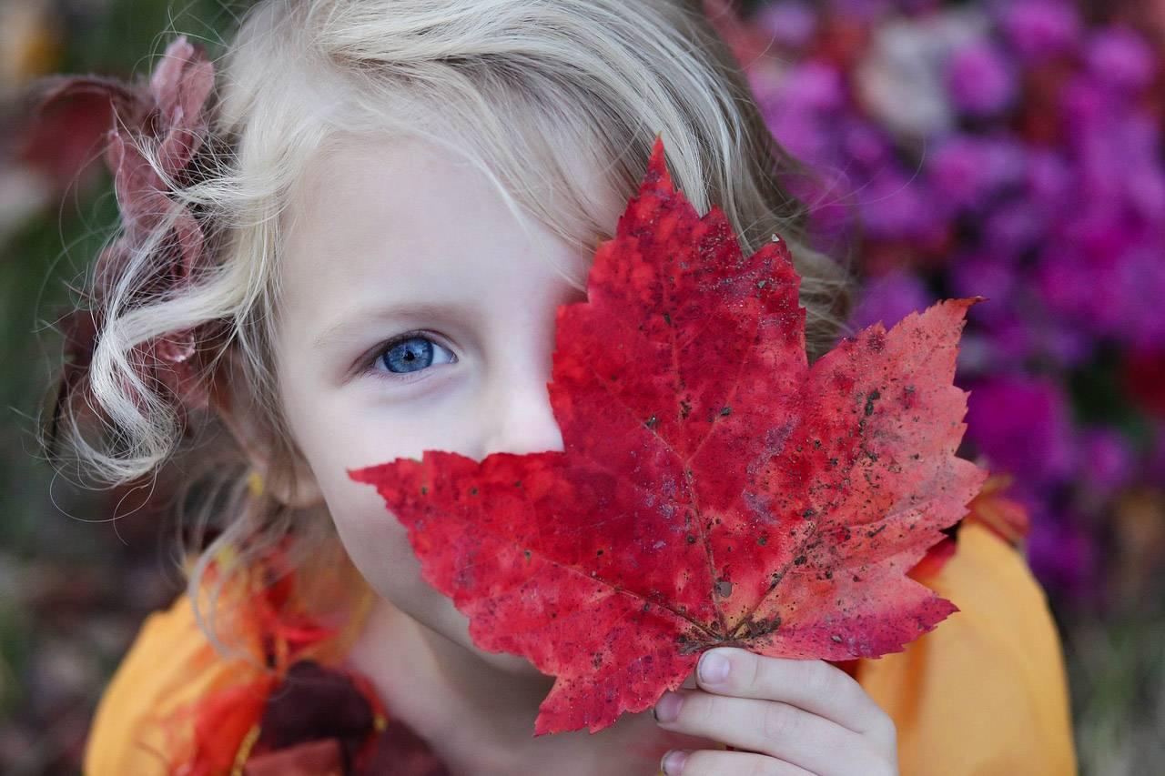 girl leaf eye_1280x853