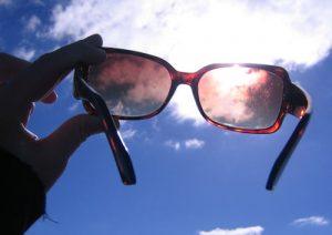 glasses in the sun