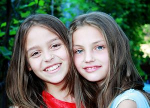 two girls smiling in Dade City