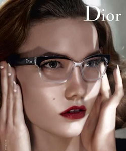 Woman wearing Dior glasses