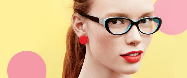woman wearing Kate Spade glasses