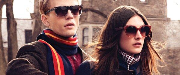 Man and Woman wearing Hilfiger sunglasses