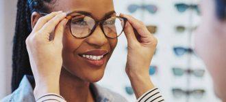 Woman wearing eyeglasses in Charleston