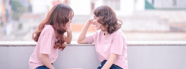 Young Girls Laughing 1280x480