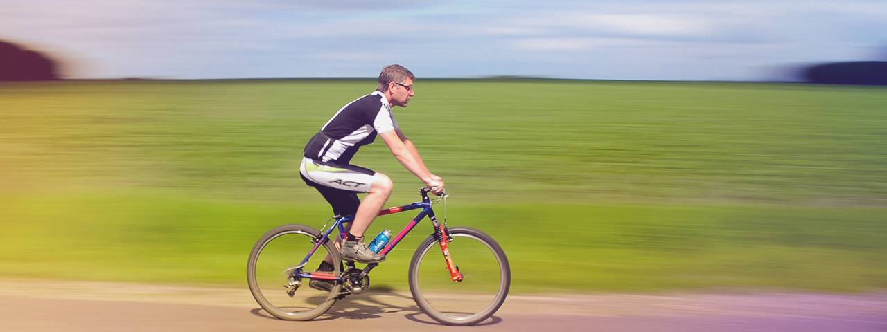 a man riding a bicycle