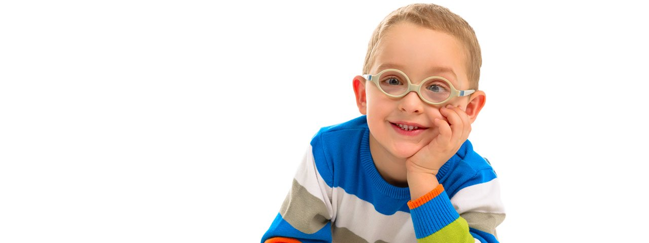 Cute smiling boy with glasses 1280x480