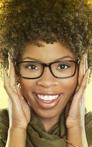 woman glasses yellow