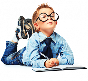 Smart Child with Eyeglasses in Orlando FL