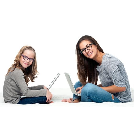 child teen sitting technology