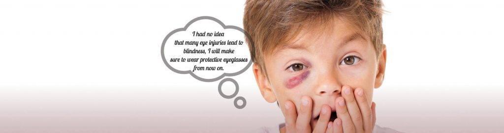 hero eye injury sports boy