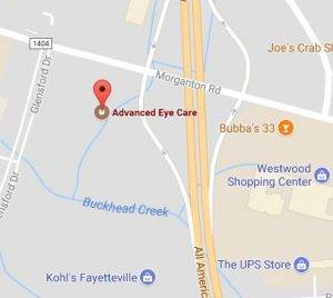 Fayetteville Vision Center Map