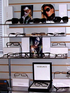 eyeglasses and contacts