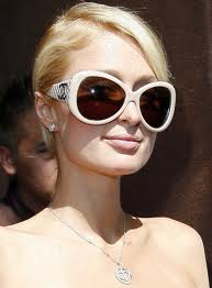 Hilton in hot designer glasses