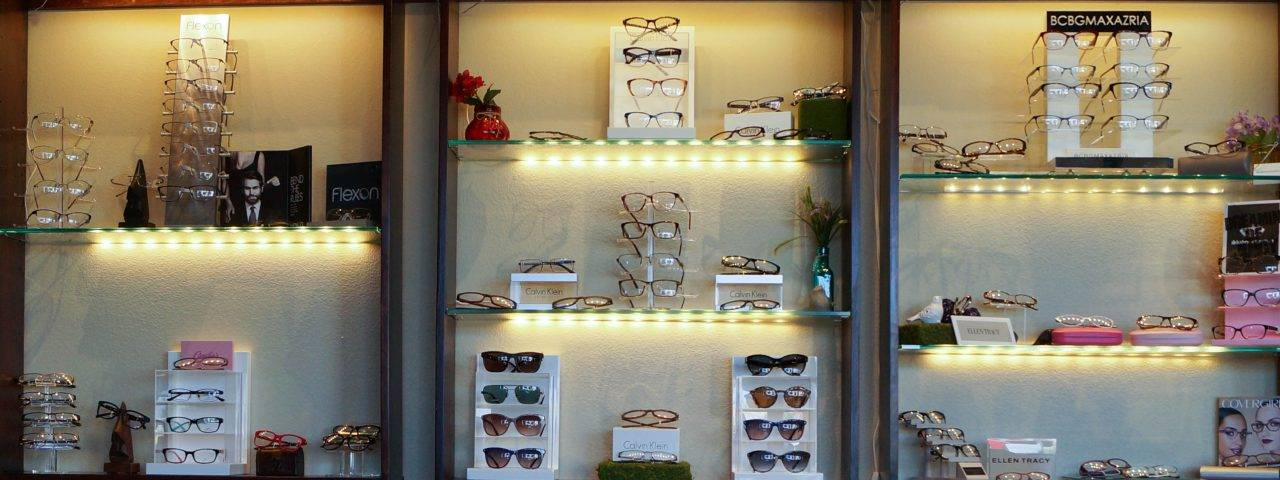 selection of glasses and sunglasses in glendale, az