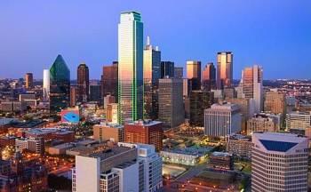 Dallas City View at Night