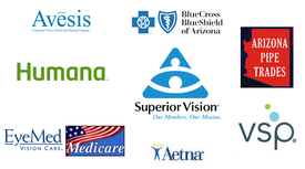 Insurance accepted by our Phoenix, Tempe & Scottsdale, AZ Optometrist