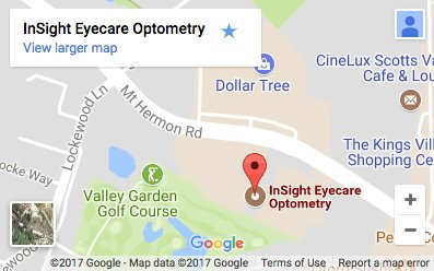map of InSight Eyecare Optometry in Scotts Valley
