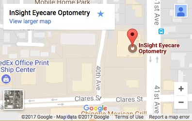 map on InSight Eyecare Optometry in capitola