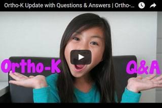 ortho-k girl in video