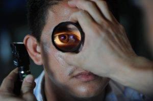 man having eyes checked   big sky eye care center   Hamilton Montana