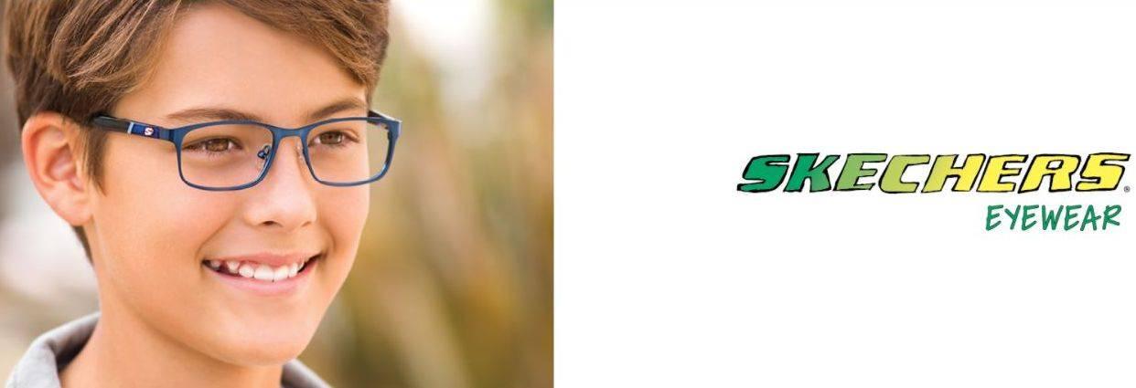 boy in Sketchers glasses