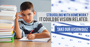 does your childs have vision issues? Take our quiz