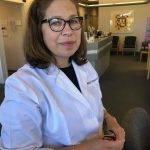 Dr. Stolarczuk showcasing Kate Young Tura
