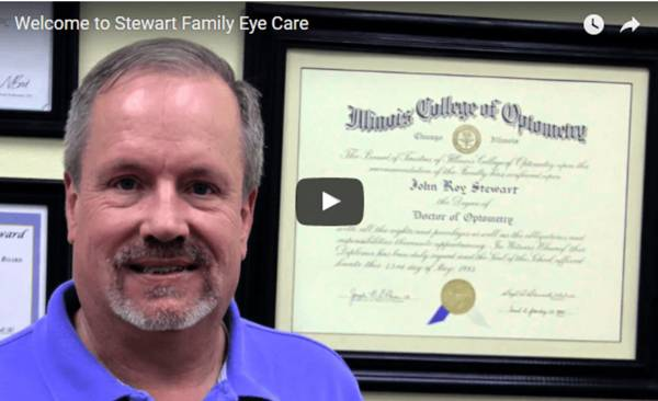screenshot of video of steward family eye care
