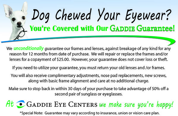 Gaddie guarantee FRONT with dog
