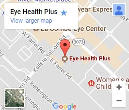 Eye Health Plus google map