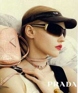 Model wearing Bebe sunglasses