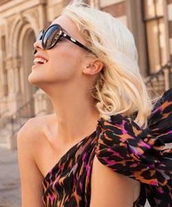 Woman wearing Oakley sunglasses