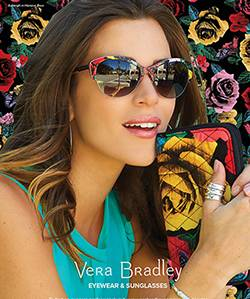 Woman wearing Vera Bradley sunglasses