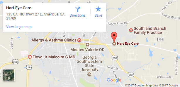 Hart Eye Care map