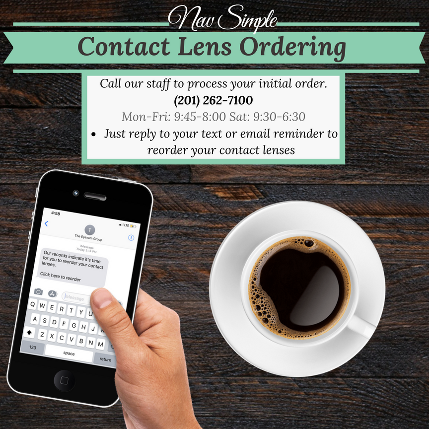 Cell Phone, order contacts, optometrist, Paramus, NJ