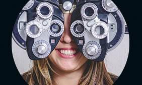 patient getting an eye exam in Las Vegas
