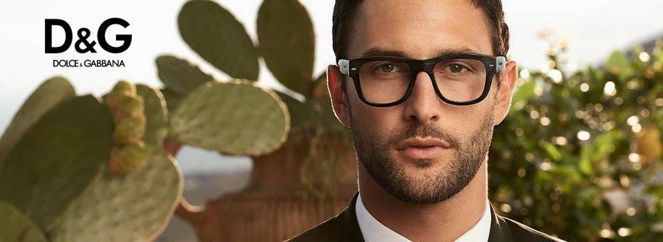 Man wearing D&G eyeglasses in Orange