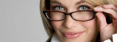 Woman wearing glasses in Cranston