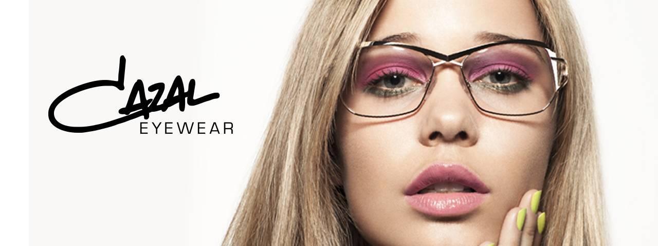 Cazal Eyewear ad with blonde woman 1280x480