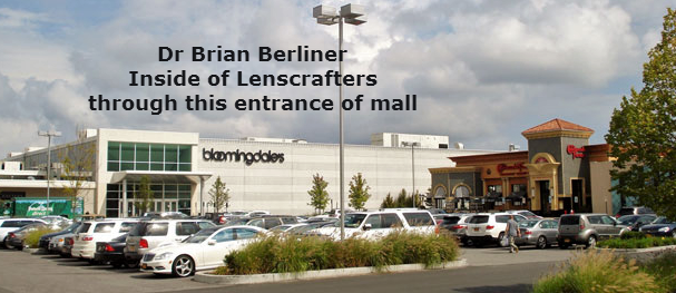 exterior of Walt Whitman Mall Lenscrafters with Dr. Berliner